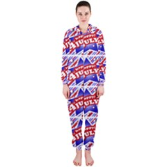 Happy 4th Of July Theme Pattern Hooded Jumpsuit (Ladies)