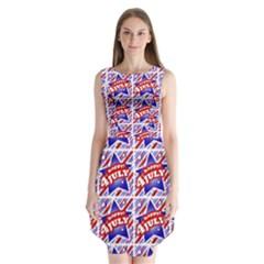 Happy 4th Of July Theme Pattern Sleeveless Chiffon Dress