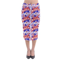 Happy 4th Of July Theme Pattern Midi Pencil Skirt