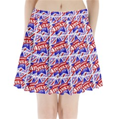 Happy 4th Of July Theme Pattern Pleated Mini Skirt