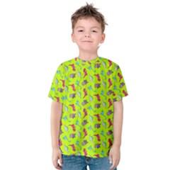 Dinosaurs pattern Kids  Cotton Tee