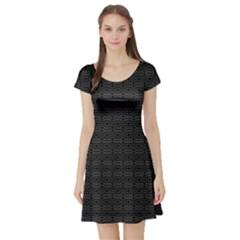 Pattern Short Sleeve Skater Dress