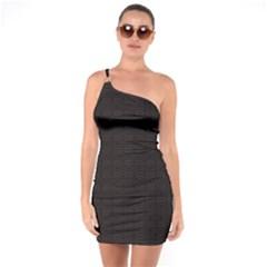Pattern One Soulder Bodycon Dress