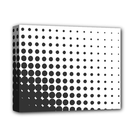 Comic Dots Polka Black White Deluxe Canvas 14  x 11