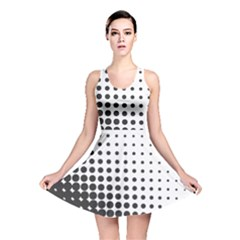 Comic Dots Polka Black White Reversible Skater Dress
