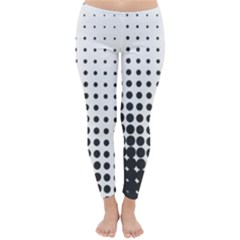 Comic Dots Polka Black White Classic Winter Leggings