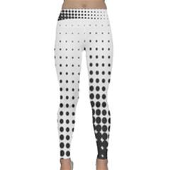 Comic Dots Polka Black White Classic Yoga Leggings