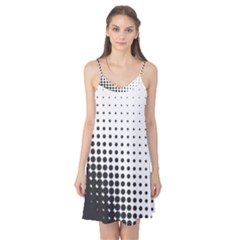 Comic Dots Polka Black White Camis Nightgown