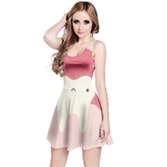 Sad Tooth Pink Reversible Sleeveless Dress