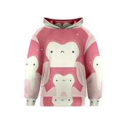 Sad Tooth Pink Kids  Pullover Hoodie