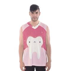 Sad Tooth Pink Men s Basketball Tank Top