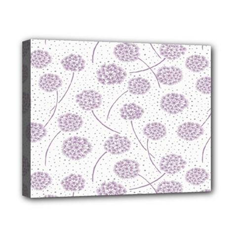 Purple Tulip Flower Floral Polkadot Polka Spot Canvas 10  x 8