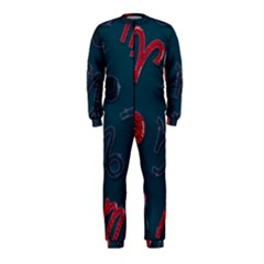 Zodiac Signs Planets Blue Red Space OnePiece Jumpsuit (Kids)