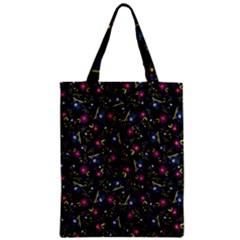 Floral pattern Zipper Classic Tote Bag