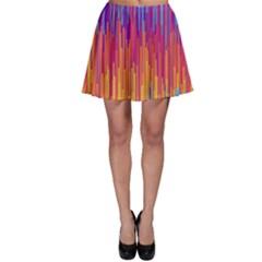 Vertical Behance Line Polka Dot Blue Red Orange Skater Skirt