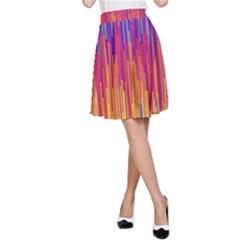 Vertical Behance Line Polka Dot Blue Red Orange A-Line Skirt