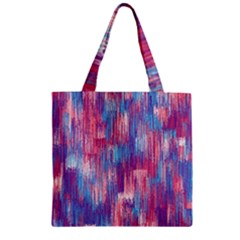 Vertical Behance Line Polka Dot Blue Green Purple Red Blue Small Zipper Grocery Tote Bag