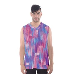 Vertical Behance Line Polka Dot Blue Green Purple Red Blue Small Men s Basketball Tank Top