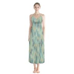 Vertical Behance Line Polka Dot Grey Button Up Chiffon Maxi Dress