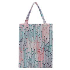 Vertical Behance Line Polka Dot Grey Pink Classic Tote Bag
