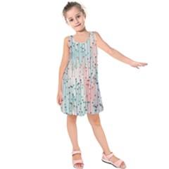 Vertical Behance Line Polka Dot Grey Pink Kids  Sleeveless Dress