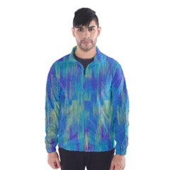 Vertical Behance Line Polka Dot Purple Green Blue Wind Breaker (Men)