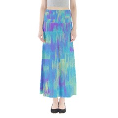 Vertical Behance Line Polka Dot Purple Green Blue Maxi Skirts