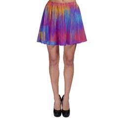 Vertical Behance Line Polka Dot Red Blue Orange Skater Skirt