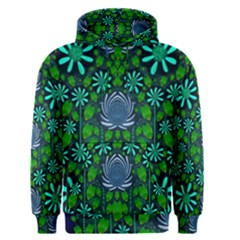 Strawberry Fantasy Flowers In A Fantasy Landscape Men s Pullover Hoodie