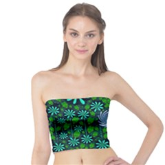 Strawberry Fantasy Flowers In A Fantasy Landscape Tube Top
