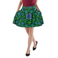 Strawberry Fantasy Flowers In A Fantasy Landscape A Line Pocket Skirt