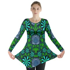 Strawberry Fantasy Flowers In A Fantasy Landscape Long Sleeve Tunic