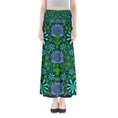 Strawberry Fantasy Flowers In A Fantasy Landscape Maxi Skirts