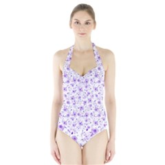 Floral pattern Halter Swimsuit