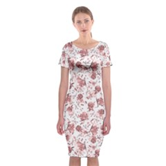 Floral pattern Classic Short Sleeve Midi Dress