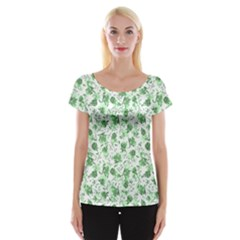 Floral pattern Women s Cap Sleeve Top