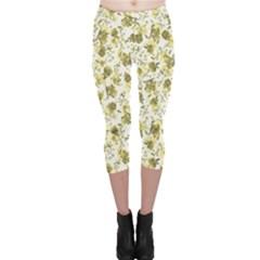 Floral pattern Capri Leggings