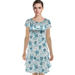 Floral pattern Cap Sleeve Nightdress