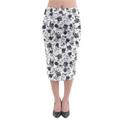 Floral pattern Midi Pencil Skirt