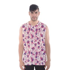 Floral pattern Men s Basketball Tank Top