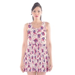 Floral pattern Scoop Neck Skater Dress