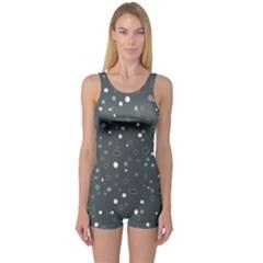 Dots pattern One Piece Boyleg Swimsuit