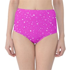 Dots pattern High-Waist Bikini Bottoms