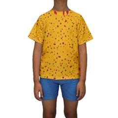 Dots pattern Kids  Short Sleeve Swimwear