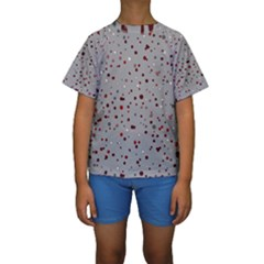 Dots pattern Kids  Short Sleeve Swimwear