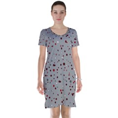 Dots pattern Short Sleeve Nightdress