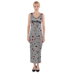 Dots pattern Fitted Maxi Dress