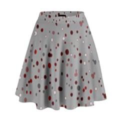 Dots pattern High Waist Skirt