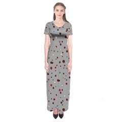 Dots pattern Short Sleeve Maxi Dress