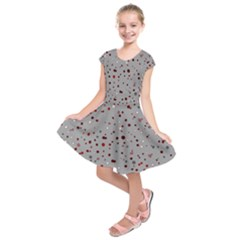 Dots pattern Kids  Short Sleeve Dress
